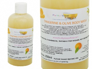 Liquid Tangerine & Olive Body Wash, 1 Bottle of 250ml