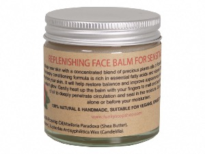 Replenishing Solid Face Balm For Sensitive Skin, 100% Pure Rosehip & Argan Oil, 60ml