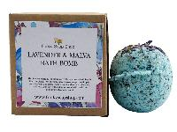 Lavender and Malva Bath Bomb, 5cm Diameter