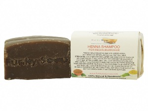 1 PIECE HENNA SOLID SHAMPOO BAR FOR RED/AUBURN/CHESTNUT SHAMPOO BAR, NATURAL & HANDMADE, APPROX 120G