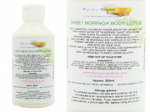 1 BOTTLE SWEET MORINGA BODY LOTION 1 BOTTLE OF 250G, HANDMADE AND NATURAL