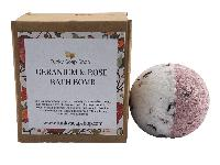Geranium and Rose Bath Bomb, 5cm Diameter