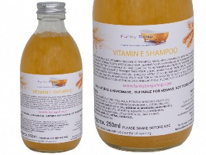 Vitamin E Liquid Shampoo, Glass Bottle of 250ml