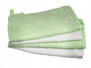 Soft Bamboo Face Cloth 2x Green 2x White