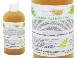 Moringa Liquid Face And Body Wash, 1 Bottle Of 250ml