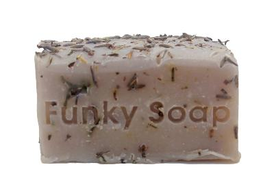 1 PIECE LAVENDER, LEMON & ROSEMARY SOAP, NATURAL & HANDMADE, APPROX 120G