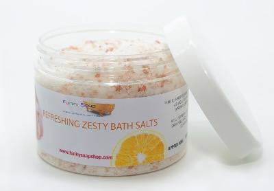 1TUB REFRESHING AND ZESTY BATH SALTS, 100% NATURAL, APPROX 500G