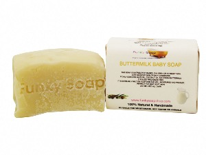 Buttermilk Baby Soap, Natural & Handmade, Approx 120g