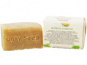 Moringa Solid Shampoo Bar, Natural & Handmade, Approx. 120g