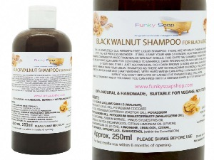 Liquid Black Walnut Shampoo For Brown & Black Hair, 1 Bottle of 250ml