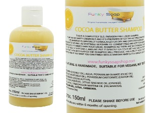 1 BOTTLE LIQUID COCOA BUTTER SHAMPOO, HANDMADE & NATURAL, APPROX 150ML