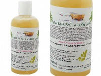 1 BOTTLE LIQUID MORINGA FACE AND BODY WASH HANDMADE &  NATURAL APPROX 150ML