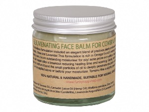 Rejuvenating Solid Face Balm For Combination  Skin, 100% Pure Tamanu & Hemp Oil, 60ml