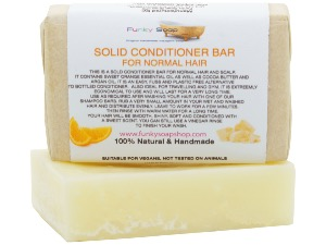 SOLID CONDITIONER BAR FOR NORMAL HAIR, 1 BAR OF 95G