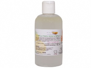 Antiseptic Hand Sanitizer, with Lemon And Tea Tree Oil, Drop Bottle 150ml