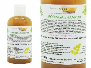 1 BOTTLE LIQUID MORINGA SHAMPOO, APPROX 150ML