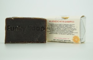1 PIECE AYURVEDIC HERB SOLID SHAMPOO BAR, NATURAL & HANDMADE, APPROX 65G