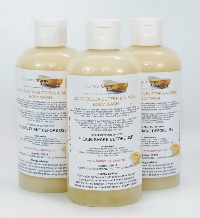 1 BOTTLE LIQUID COCOA BUTTER & ALMOND  BODY WASH HANDMADE &  NATURAL APPROX 250ML