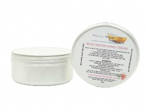 ROSEWATER HAND CREAM, 1 TUB OF 100G