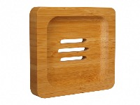 Bamboo Wood Square Soapdish