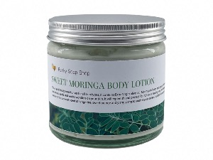 Sweet Moringa Body Lotion, Glass Tub of 250g