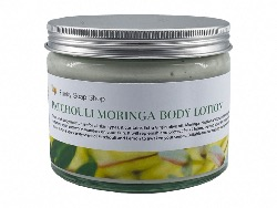 Patchouli  Moringa Body Lotion,  Glass Tub of 250g