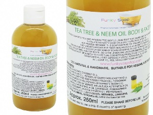 Tea Tree Neem Oil Liquid Face & Body Wash, 1 Bottle of 250ml