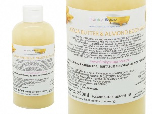 Liquid Cocoa Butter & Almond  Body Wash, 1 Bottle of 250ml
