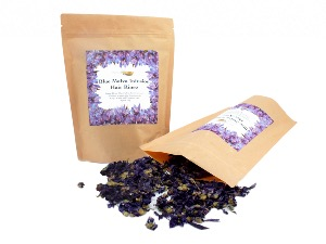 Blue Malva Infusion Hair Rinse for Grey, White and Platinum Hair, Loose Dried Flowers 50g